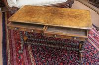 Burr Walnut Writing Table (2 of 8)