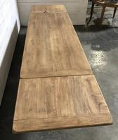 Bleached Oak Farmhouse Dining Table with Extensions (3 of 16)