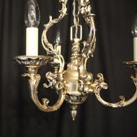 Italian Silver Gilded Triple Light Chandelier (4 of 10)
