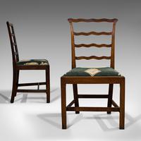 Pair of Antique Ladder Back Chairs, Irish, Mahogany, Side, Georgian c.1780 (7 of 11)