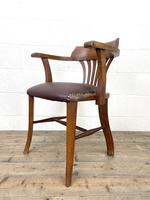 Early 20th Century Antique Oak Desk Chair (6 of 9)