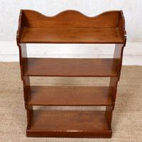 Oak Open Bookcase Waterfall Solid Carved (4 of 8)