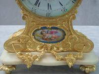 French Louis XV Style Bronze Gilt Mantel Clock by Leroy & Fils (3 of 8)