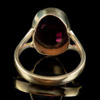 Antique Victorian 6ct Cabochon Garnet Ring 9ct Gold Circa 1900 (7 of 7)