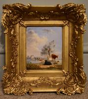 """Oil Painting by Edmund Bristow """"Pastoral View"""""""