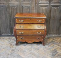 Dutch mahogany bombe commode / chest of drawers (2 of 8)