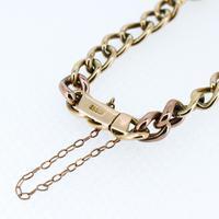 Antique Turquoise Curb Link 15ct Gold Bracelet Edwardian Victorian (8 of 8)