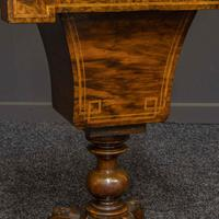 Victorian Walnut Sewing Table (4 of 12)