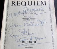 1958 Verdi Requiem  Signed by Victoria  Elliott, Roger Stalman,  Willliam  McAlpine (2 of 4)