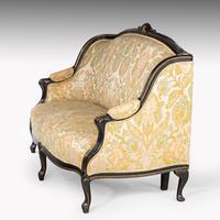 Fine Mid 19th Century Ebonised Mahogany Sofa (2 of 6)