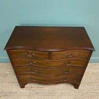 Edwardian Walnut Serpentine Antique Chest of Drawers (9 of 9)