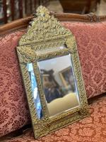 French Brass Cushion Mirror (5 of 10)