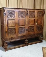 Superb Carved Oak Cupboard on Stand (3 of 34)