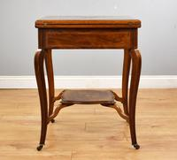 Victorian Rosewood Envelope Card Table (3 of 12)