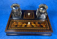 Victorian Rosewood & Tunbridge Ware Inkstand by Thomas Barton (23 of 24)