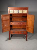 Fine & Original Late 19th Century Lacquered Wedding or Marriage Cabinet (2 of 5)