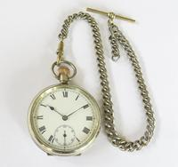 Antique Valmor Pocket Watch & Chain (3 of 6)