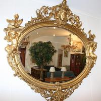 Large Antique French Giltwood Mirror (4 of 6)