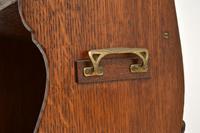 Antique Arts & Crafts Oak  Open  Bookcase (11 of 12)