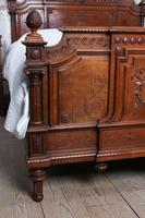 Beautiful Carved Walnut European King Size Bed (4 of 13)
