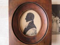 Late Georgian Clergyman Hand Painted Silhouette (3 of 4)