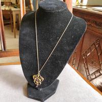 Victorian Art Nouveau 9ct Gold Pendant (9 of 9)