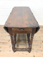 Antique Oak Drop Leaf Dining Table (6 of 13)