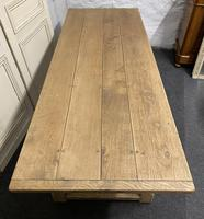 Bleached Oak Farmhouse Refectory Dining Table (11 of 22)