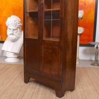 Art Deco Oak Glazed Bookcase (10 of 11)