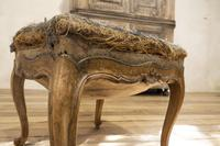 Elegant Small French Louis XV Walnut and Upholstered Foot Stool (3 of 7)