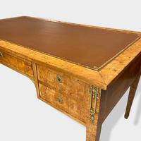 French Empire Burr Walnut Desk (6 of 10)