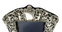 "Antique Edwardian Sterling Silver 8"" Photo Frame 1903 (3 of 11)"