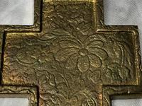 Fine Religious Russian Orthodox Ormolu Gilt Bronze Christ Cross (17 of 19)