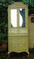 Beautiful Italian Hand Painted Bureau Bookcase Cabinet