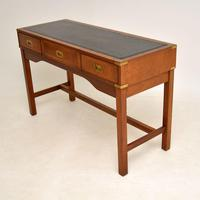 Antique Military Campaign Style Mahogany Writing Table / Desk (3 of 12)