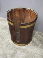 George III Mahogany & Brass Bound Plate Bucket (5 of 8)