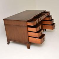 Antique Mahogany  Leather Top Pedestal Desk (5 of 11)