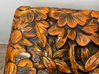 Chinese Camphor Wood Carved Birds & Flowers Chest Coffee Table (14 of 34)