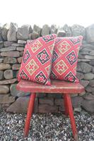 Early 20th Century, Antique Swedish Woven Textile, Geometric Patterned 're-stuffed cushions' (3 of 20)