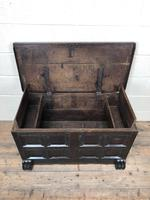 Antique Rare 17th Century Oak Coffer with Block Paw Feet (M-716) (7 of 16)