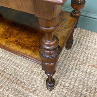 Small Figured Walnut Victorian Antique Coffee Table (4 of 5)