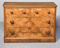 Victorian Burr Walnut Chest of Drawers c.1860 (7 of 8)