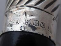 1924  Walking Stick Cane Hallmarked Solid Silver Pommel Ebonised Wood Shaft (7 of 9)