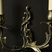 French Pair Of Twin Arm Antique Wall Lights (5 of 10)
