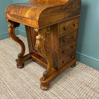 Sensational Victorian Burr Walnut Piano Top Antique Davenport Desk (9 of 10)