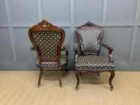 Pair of 19th Century French Rosewood Armchairs (5 of 16)