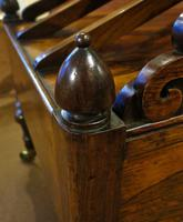 Fine Regency Rosewood Canterbury / Magazine Rack (5 of 5)