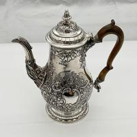 George IV Sterling Silver Coffee Pot London 1824 Timothy Smith & Thomas Merryweather (3 of 12)