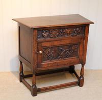 French Dark Oak Side Cabinet (10 of 10)