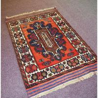 Gorgeous Vintage Tajikistan Tribal Wool Rug (3 of 6)